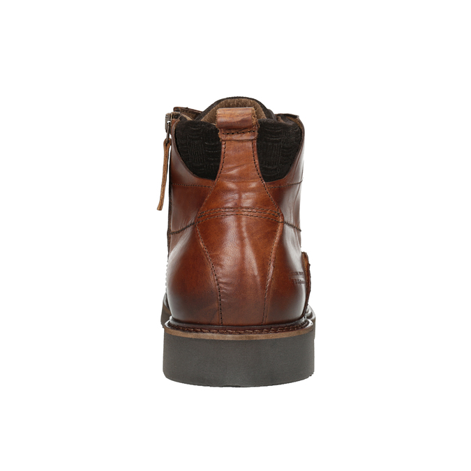 Leather Ankle Boots bata, brown , 896-3675 - 16