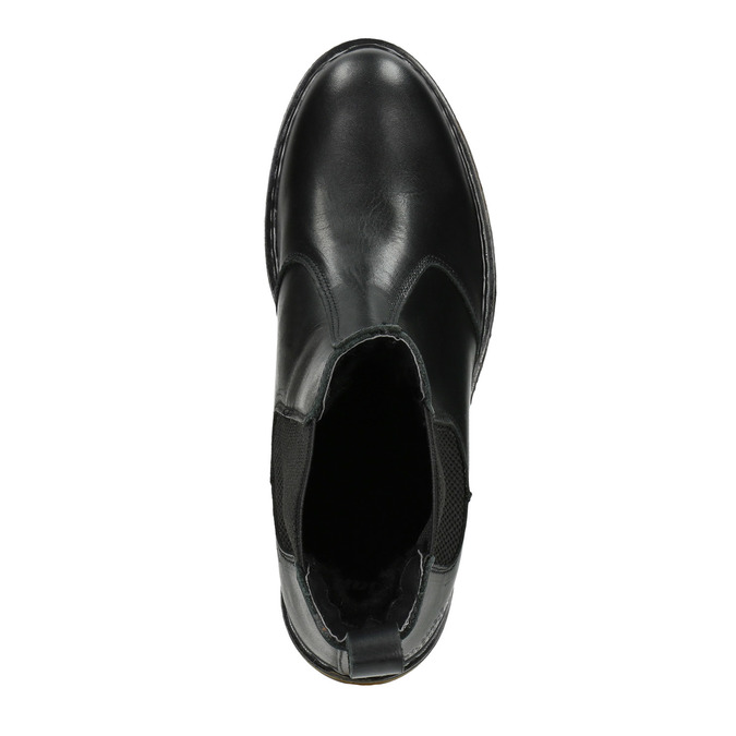 Ladies' leather Chelsea boots bata, black , 594-6680 - 15