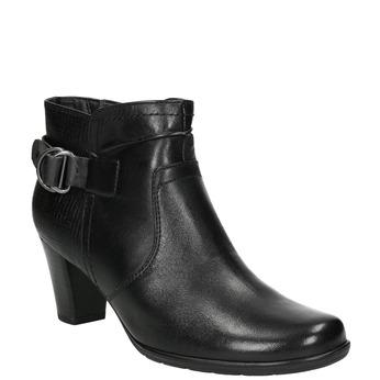 H-width ankle boots bata, black , 696-6625 - 13