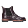 Leather burgundy Chelsea Boots bata, red , 596-5657 - 26