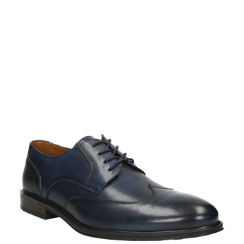 Men's blue leather shoes bata, blue , 826-9914 - 13