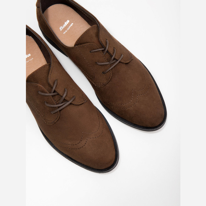 Ladies' brown shoes with stitching bata, brown , 529-4632 - 14