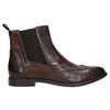 Ladies' leather brogue Chelsea boots bata, brown , 596-4683 - 26