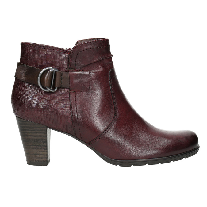 H-width ankle boots bata, red , 696-5625 - 15