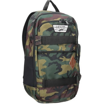 Unisex Backpack with Camouflage Print vans, brown , 969-3099 - 13
