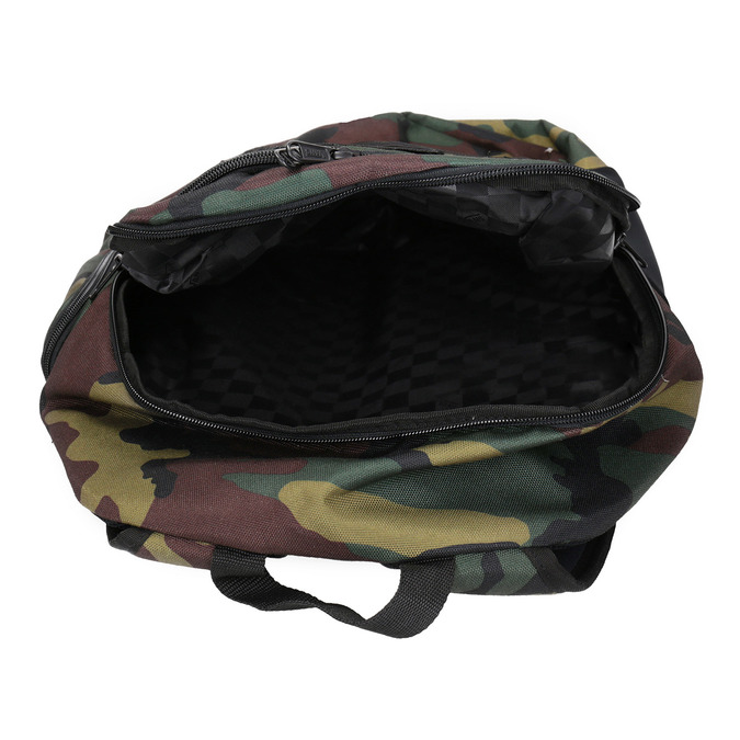 Unisex Backpack with Camouflage Print vans, brown , 969-3099 - 15