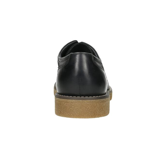 Men's Leather Derby Shoes bata, black , 826-6620 - 17