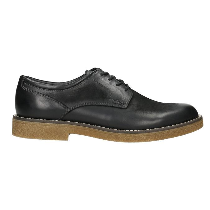 Men's Leather Derby Shoes bata, black , 826-6620 - 15