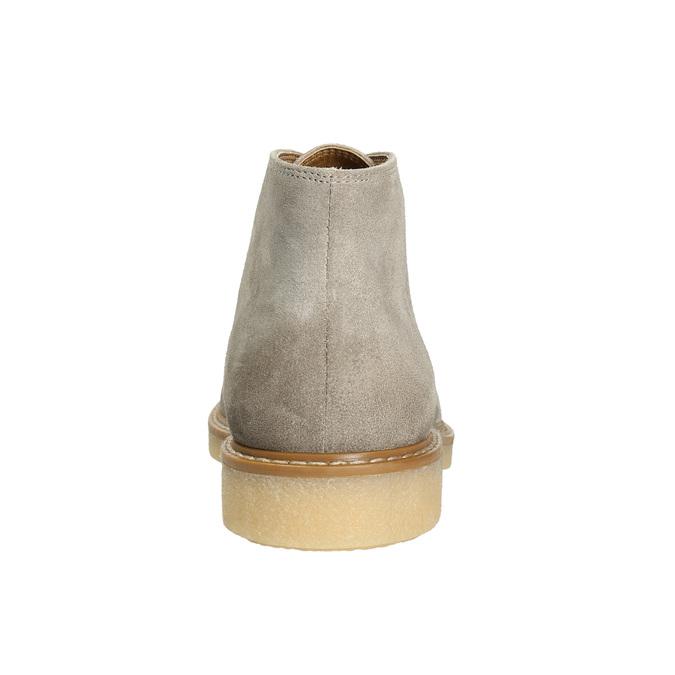 Ladies' Leather Chukka Boots bata, gray , 593-2608 - 17