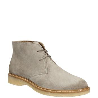 Ladies' Leather Chukka Boots bata, gray , 593-2608 - 13
