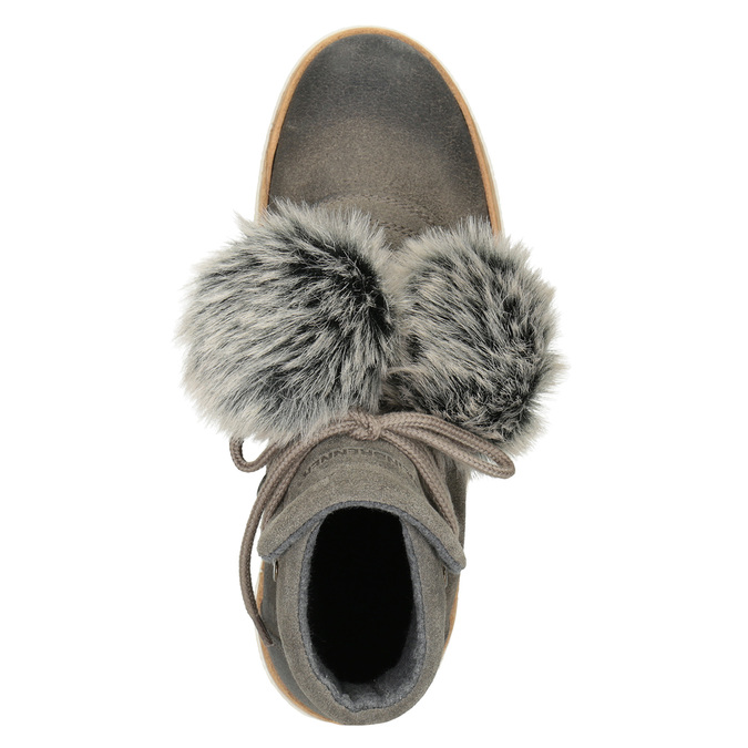 Ladies' Lace-Up Winter Boots weinbrenner, gray , 596-2674 - 15