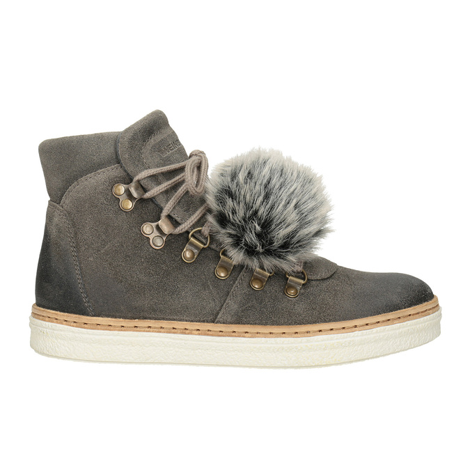 Ladies' Lace-Up Winter Boots weinbrenner, gray , 596-2674 - 26