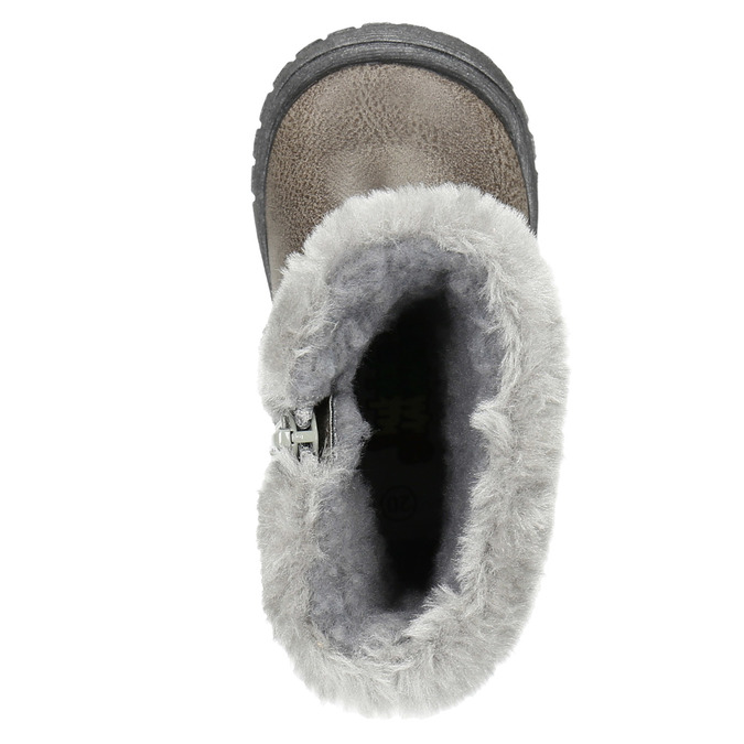 Children's Winter Boots with Fleece bubblegummer, gray , 191-2620 - 19