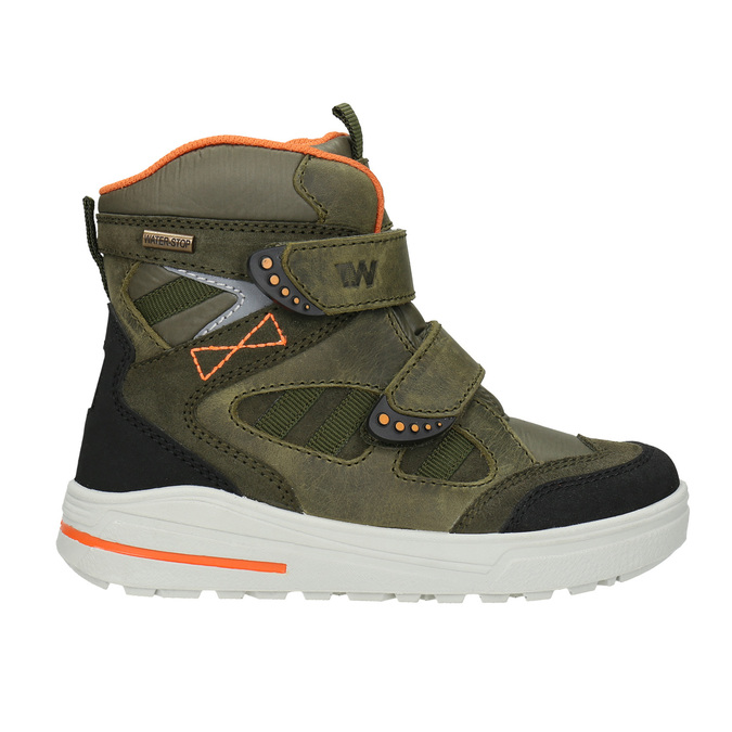 Children's Leather Winter Boots weinbrenner-junior, green, 493-7612 - 26