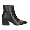 Leather High Boots with Chunky Heel vagabond, black , 716-6038 - 26