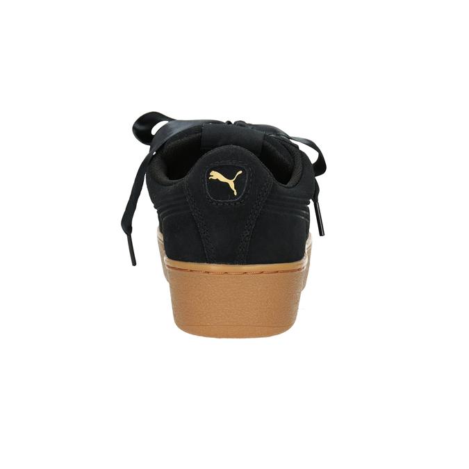 Ladies' Leather Sneakers puma, black , 503-6169 - 16