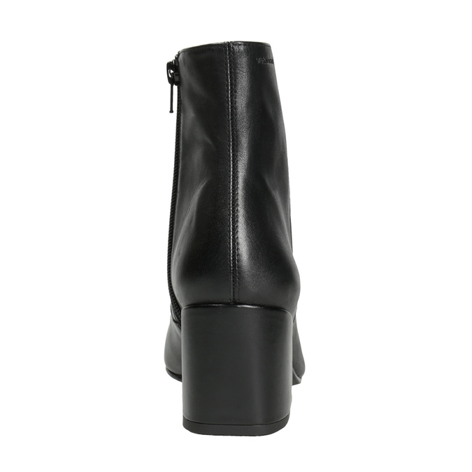Leather High Boots with Chunky Heel vagabond, black , 716-6038 - 16