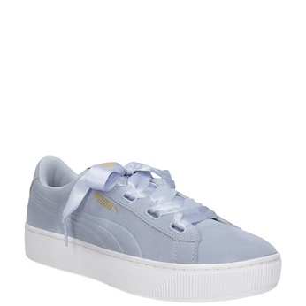 Ladies' Leather Sneakers puma, blue , 503-9169 - 13
