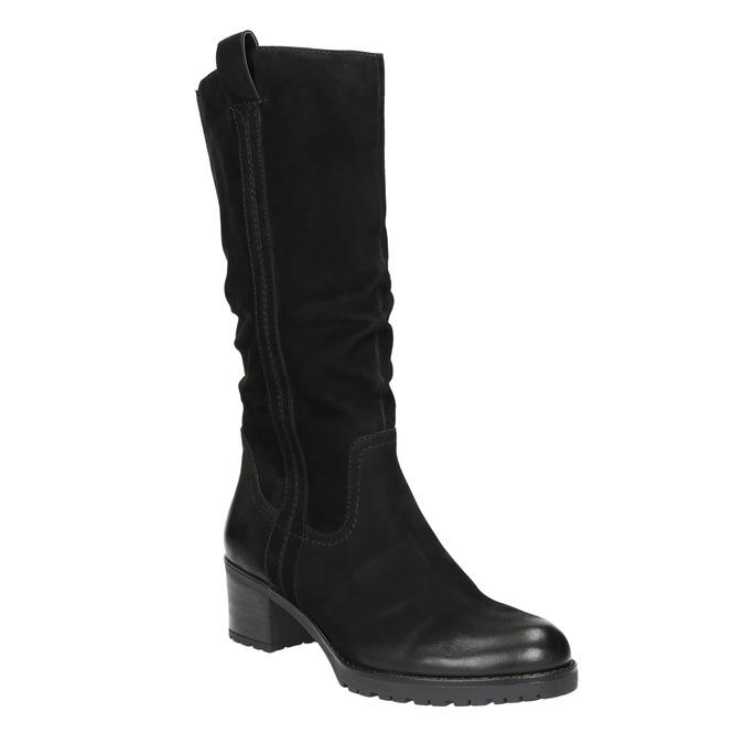 Ladies' Leather High Boots bata, black , 696-6649 - 13