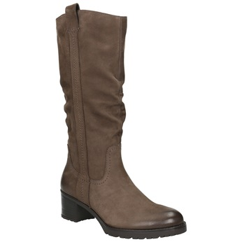 Ladies' Leather High Boots bata, brown , 696-4649 - 13