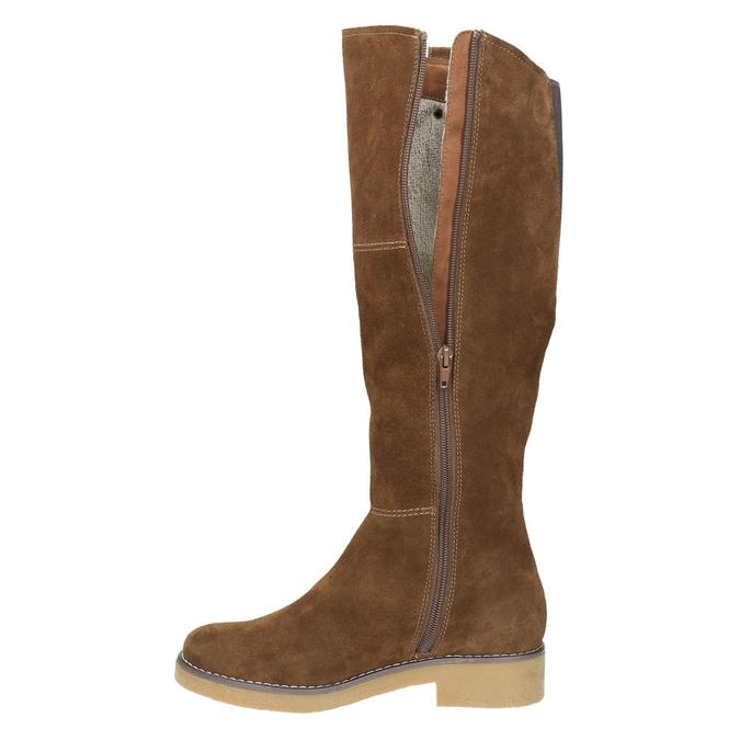 Ladies' Winter High Boots bata, brown , 593-4606 - 15