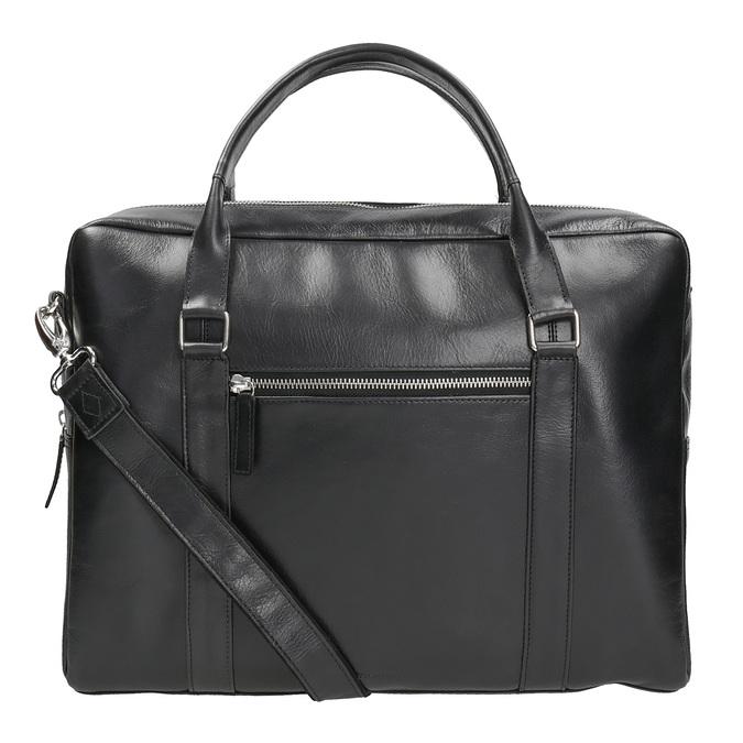 Black Leather Bag royal-republiq, black , 964-6051 - 16