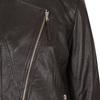 Ladies' Leather Jacket with Asymmetric Zip bata, brown , 974-4177 - 16