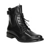 Ladies' leather ankle boots bata, black , 596-6680 - 13