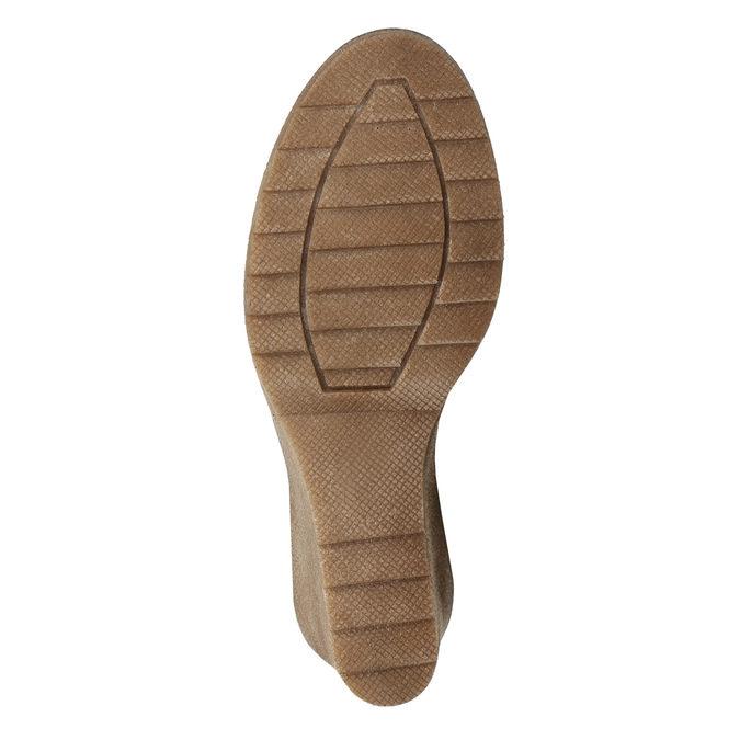 Brown Leather High Boots bata, brown , 793-4607 - 19
