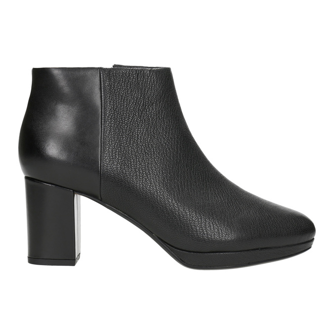 Leather Ankle Boots with Heel clarks, black , 714-6036 - 26