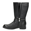 Girls' high boots with rhinestones mini-b, black , 391-6398 - 15