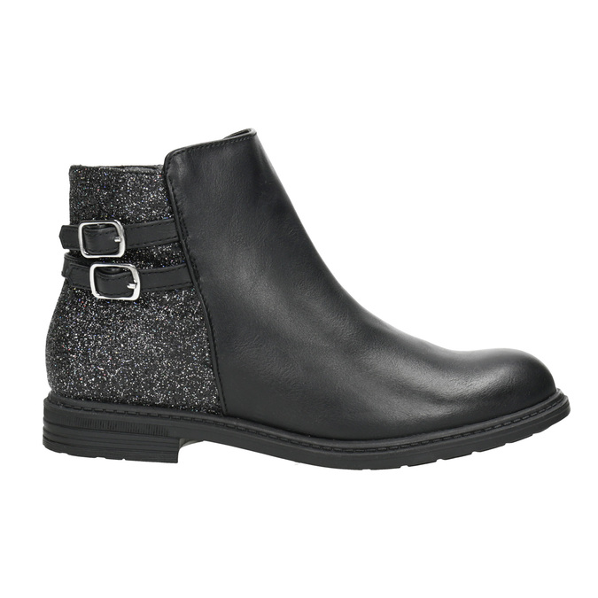 Girls' ankle boots with glitter mini-b, black , 391-6395 - 26