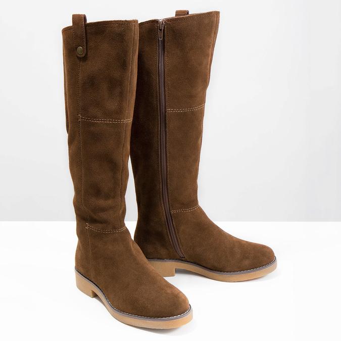 Ladies' Winter High Boots bata, brown , 593-4606 - 18