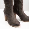 Ladies' wrinkled high boots bata, brown , 799-4614 - 14