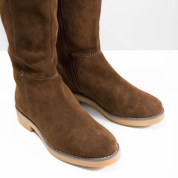Ladies' Winter High Boots bata, brown , 593-4606 - 14