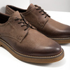 Brown Leather Shoes bata, brown , 826-4620 - 14