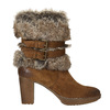High-Heeled High Boots with Fleece manas, brown , 793-3609 - 26