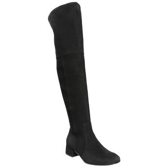 Ladies' leather high boots bata, black , 693-6604 - 13