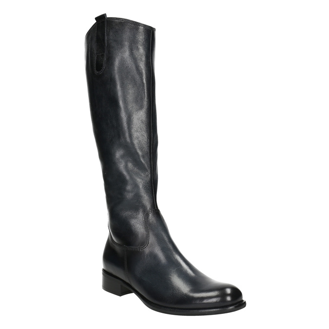 Ladies' leather high boots gabor, black , 694-6193 - 13