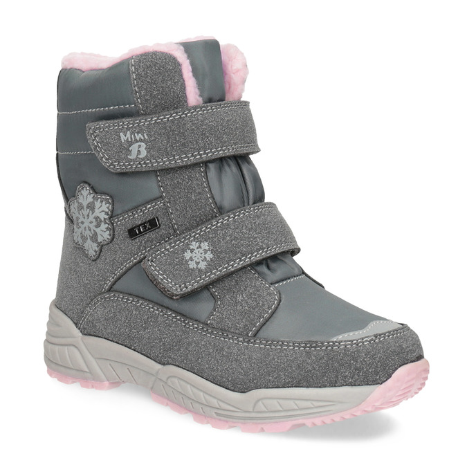 Girls' Snow Boots with Fleece mini-b, gray , 291-2625 - 13