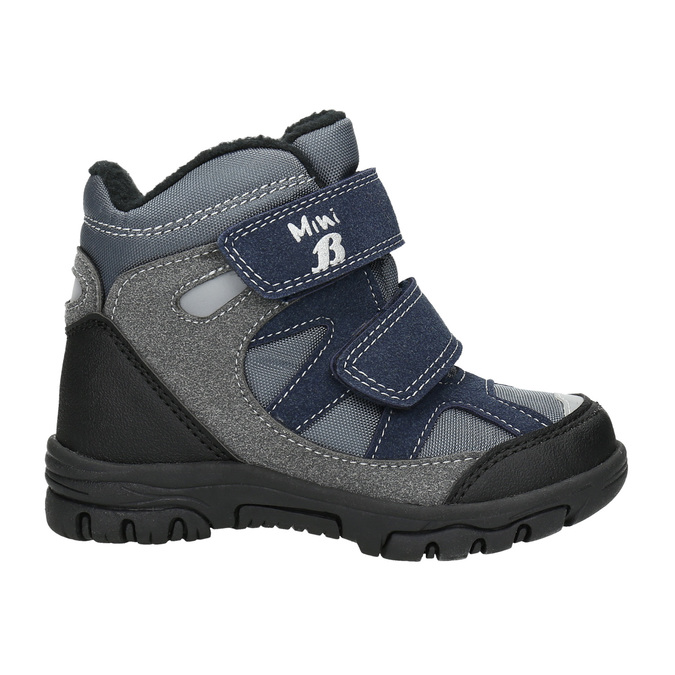 Children's Winter Boots with Hook-and-Loop Closures mini-b, gray , 291-2626 - 15