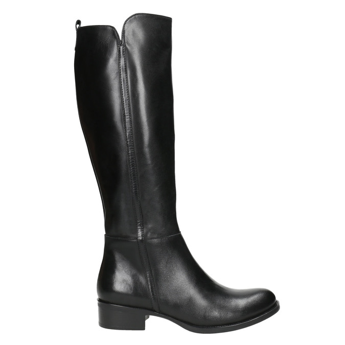 Ladies' leather high boots bata, black , 594-6586 - 15