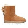 Ladies' Casual Leather Boots bata, brown , 593-4604 - 15