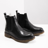 Ladies' leather Chelsea boots bata, black , 594-6680 - 18
