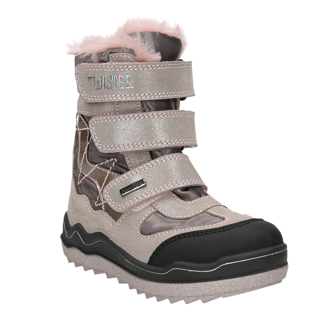 Pink Girls' Winter Boots mini-b, red , 299-5613 - 13