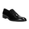 Textured leather Oxford shoes conhpol, black , 824-6989 - 13