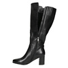 Ladies' Leather High Boots bata, black , 694-6639 - 26