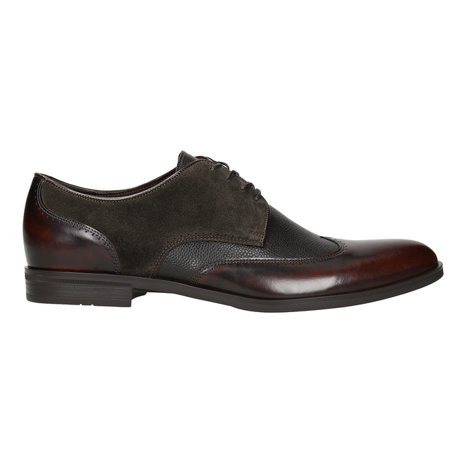 Men's leather Derby shoes conhpol, brown , 826-4922 - 26