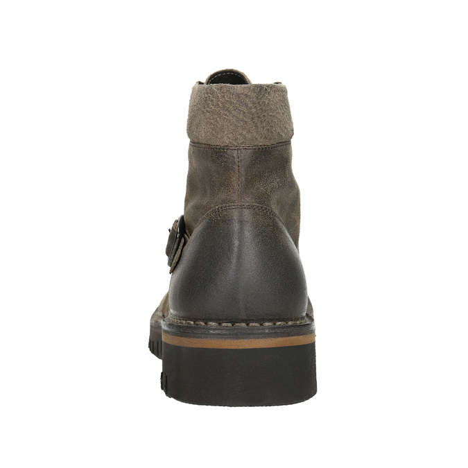 Ankle Boots with a Sturdy Sole bata, brown , 896-4683 - 17