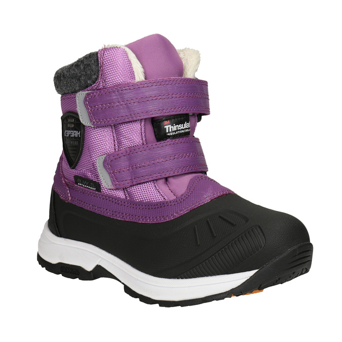 Girls' purple snow boots, violet , 399-5018 - 13